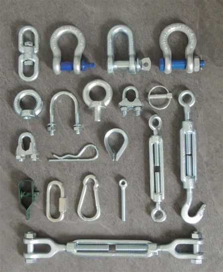 Rigging wire rope and-lifting components